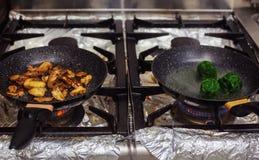 Detalhes profissionais da cozinha fotografia de stock royalty free