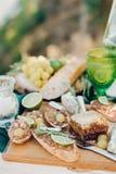Detalhes românticos do almoço Fotografia de Stock