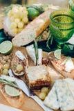 Detalhes românticos do almoço Imagens de Stock Royalty Free