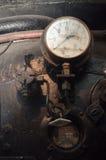 Detalhes sujos de calibre no trem do vapor Foto de Stock