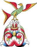 Detalhes superiores de teste padrão decorativo ortodoxo ilustração stock