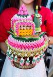 Detalhes tailandeses da decoração do casamento Imagens de Stock