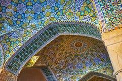 Detalhes telhados de mesquita de Vakil, Shiraz, Irã Fotos de Stock Royalty Free