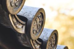 Detalhes telhando japoneses foto de stock royalty free