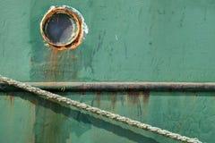 Detalhes velhos do barco de pesca fotos de stock royalty free