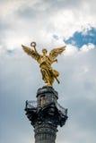 Detalj av ängeln av självständighetmonumentet - Mexico - stad, Mexico royaltyfri fotografi