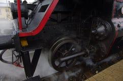 Detalj av ångalokomotivet royaltyfri bild
