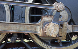 Detalj av ångalokomotivet arkivbilder