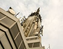 Detalj av överkanten av Empire State Building fotografering för bildbyråer