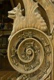 Detalj av 15/16. århundradepew Royaltyfria Bilder