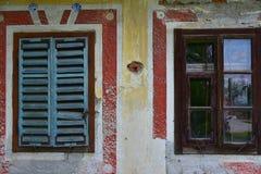 Detalj av Abandoned huset Arkivbilder