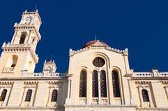 Detalj av Agios Minas Cathedral i Heraklion på ön av Kreta, Grekland Royaltyfri Foto