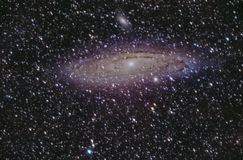 Detalj av Andromedagalaxen på Palencia arkivbild