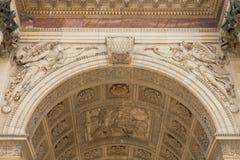 Detalj av Arc de Triomphe Paris Fotografering för Bildbyråer