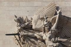 Detalj av Arc de Triomphe, Paris Arkivbild