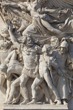 Detalj av Arc de Triomphe, Paris Arkivfoton