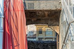 Detalj av arenan i Verona royaltyfria bilder