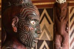 Detalj av att snida för maori royaltyfri fotografi