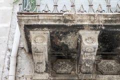 Detalj av balkonger i Syracuse Arkivfoto