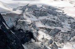 Detalj av berglandskapet Härlig vårsikt på Grossgloc royaltyfri foto