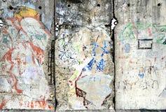 Detalj av Berlin Wall i Tyskland Arkivfoton