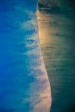 Detalj av blåa Is-MER De Glace, Frankrike Arkivbild