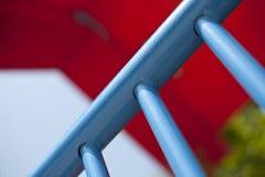 Detalj av blåa stänger Royaltyfri Bild