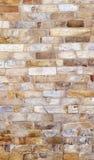 Detalj av brickwallen av det Qutab Minar tornet, världens den mest högväxta tegelstenminaret Arkivbild