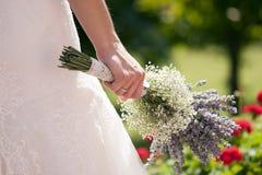 Detalj av bruden Fotografering för Bildbyråer