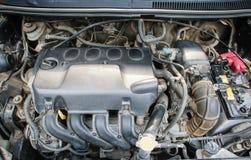 Detalj av bruksbilmotorn royaltyfri bild