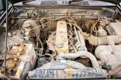 Detalj av bruksbilmotorn arkivbilder