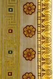 Detalj av byggnad av den moderna akademin av Aten Arkivbilder
