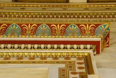 Detalj av byggnad av den moderna akademin av Aten Fotografering för Bildbyråer