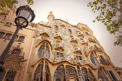 Detalj av casaen Batllo - Barcelona - Spanien arkivbild