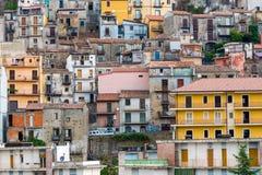 Detalj av Castiglione di Sicilia, Italien arkivfoto
