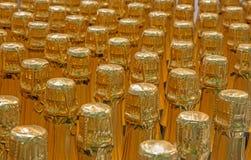 Detalj av champagneflaskor. Royaltyfria Foton