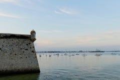 Detalj av citadellen av Port Louis, Brittany, Frankrike Royaltyfri Foto