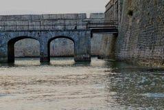 Detalj av citadellen av Port Louis, Brittany, Frankrike Royaltyfri Fotografi