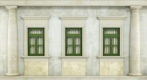 Detalj av classcfasaden Arkivbild