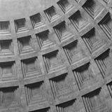 Detalj av coffering på taket av panteon Royaltyfri Foto