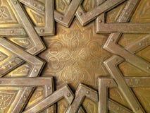 Detalj av dörren av Royal Palace av Fez royaltyfri bild