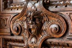 Detalj av dörren i slott för doge` s i Venedig, Italien Royaltyfria Bilder