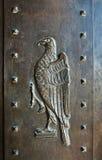 Detalj av dörren i Umaid Bhawan slotthotell i Jodhpur i Rajast Royaltyfria Bilder