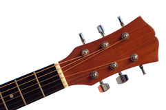 Detalj av den akustiska gitarren Fotografering för Bildbyråer
