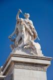 Detalj av den Altare dellaen Patria. Rome. Arkivbilder