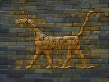 Detalj av den Babylonian processiongatan Arkivbilder