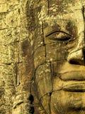 Detalj av den Bayon templet, Angkor Wat Arkivfoto