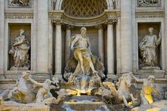 Detalj av den berömda italienska springbrunnen i Rome Royaltyfria Bilder