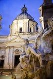 Detalj av den Bernini springbrunnen i Rome Arkivbild