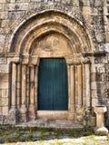 Detalj av den Boelhe romanesquekyrkan i Penafiel Fotografering för Bildbyråer